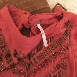 Free People beaded top size XS